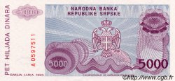 5000 Dinara BOSNIE HERZÉGOVINE  1993 P.149a NEUF