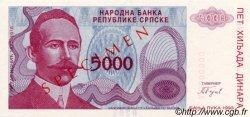 5000 Dinara BOSNIE HERZÉGOVINE  1993 P.149s NEUF