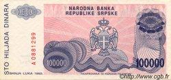 100000 Dinara BOSNIE HERZÉGOVINE  1993 P.151a SPL