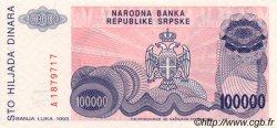 100000 Dinara BOSNIE HERZÉGOVINE  1993 P.151a NEUF