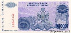1000000 Dinara BOSNIE HERZÉGOVINE  1993 P.152a NEUF