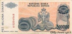 5000000 Dinara BOSNIE HERZÉGOVINE  1993 P.153a TTB