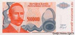 5 000 000 Dinara BOSNIE HERZÉGOVINE  1993 P.153s NEUF