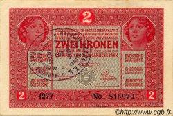 2 Kruna BOSNIE HERZÉGOVINE  1917 P.-- SUP