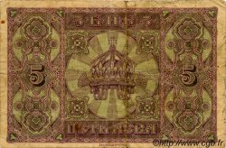 5 Leva Srebrni BULGARIE  1917 P.021a TB+