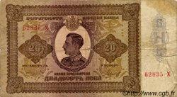 20 Leva BULGARIE  1928 P.049Aa B+