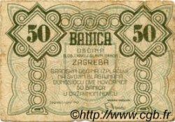 50 Banica CROATIE  1942 P.00 TB+
