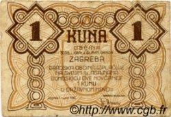 1 Kuna CROATIE  1942 P.00 TB+