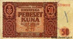 50 Kuna CROATIE  1941 P.01 TTB