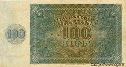 100 Kuna CROATIE  1941 P.02 TTB