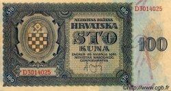 100 Kuna CROATIE  1941 P.02 SPL