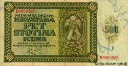 500 Kuna CROATIE  1941 P.03 TTB