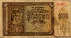 1000 Kuna CROATIE  1941 P.04a B