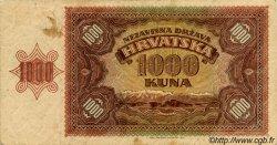 1000 Kuna CROATIE  1941 P.04a TB