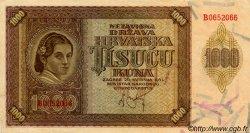 1000 Kuna CROATIE  1941 P.04a TTB+
