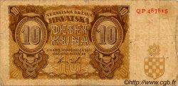 10 Kuna CROATIE  1941 P.05b TB