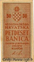 50 Banica CROATIE  1942 P.06 TTB+