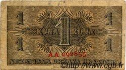 1 Kuna CROATIE  1942 P.07 TB