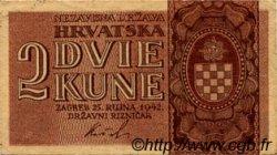 2 Kune CROATIE  1942 P.08 SUP