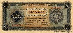 100 Kuna CROATIE  1943 P.11 SPL