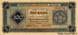 100 Kuna CROATIE  1943 P.11 NEUF