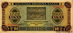 1000 Kuna CROATIE  1943 P.12 TTB+