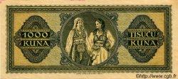 1000 Kuna CROATIE  1943 P.12 SUP