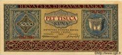 5000 Kuna CROATIE  1943 P.13 SPL+