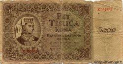 5000 Kuna CROATIE  1943 P.14 B