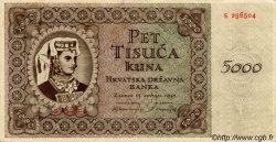 5000 Kuna CROATIE  1943 P.14 SUP
