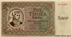 5000 Kuna CROATIE  1943 P.14 NEUF