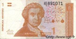 1 Dinar CROATIE  1991 P.16a TTB