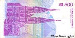 500 Dinara CROATIE  1991 P.21a TTB