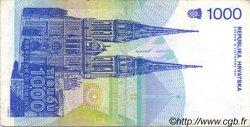 1000 Dinara CROATIE  1991 P.22a TTB