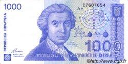 1000 Dinara CROATIE  1991 P.22a SUP