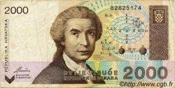 2000 Dinara CROATIE  1992 P.23a TB