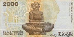 2000 Dinara CROATIE  1992 P.23a TTB+