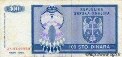 100 Dinara CROATIE  1992 P.R03a TB