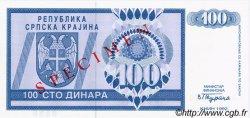 100 Dinara CROATIE  1992 P.R03s NEUF