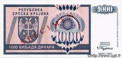 1000 Dinara CROATIE  1992 P.R05s NEUF