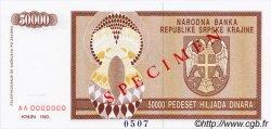 50000 Dinara CROATIE  1993 P.R08s NEUF