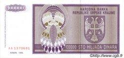 100000 Dinara CROATIE  1993 P.R09a pr.NEUF