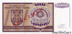 100000 Dinara CROATIE  1993 P.R09s NEUF