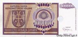 100000 Dinara CROATIE  1993 P.R09s pr.NEUF