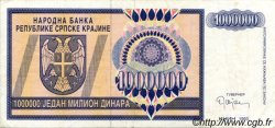 1000000 Dinara CROATIE  1993 P.R10a TTB