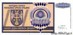 1000000 Dinara CROATIE  1993 P.R10a pr.NEUF