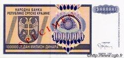 1000000 Dinara CROATIE  1993 P.R10s NEUF
