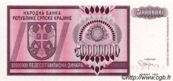 50 000 000 Dinara CROATIE  1993 P.R14a NEUF
