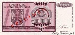 50000000 Dinara CROATIE  1993 P.R14s NEUF