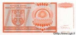 1000000000 Dinara CROATIE  1993 P.R17a NEUF